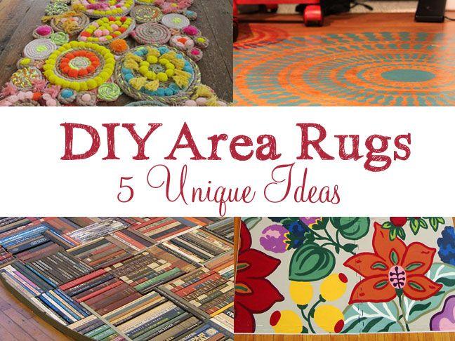 5 Unique Diy Area Rug Ideas Diy Rug Diy Book Unique Diy