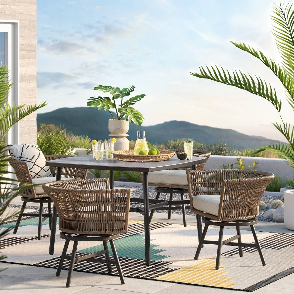 Hardoy Patio Dining Set with Swivel Chairs   Project 10™ in 10 ...