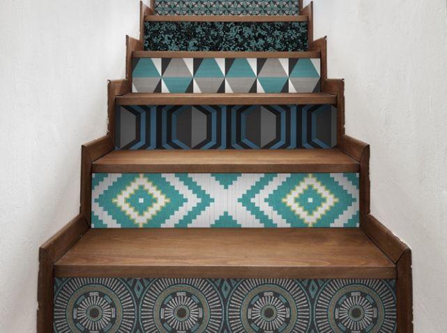 Gut gemocht Escalier papier peint | Deco | Pinterest | Le motif, Papier peint  BD61