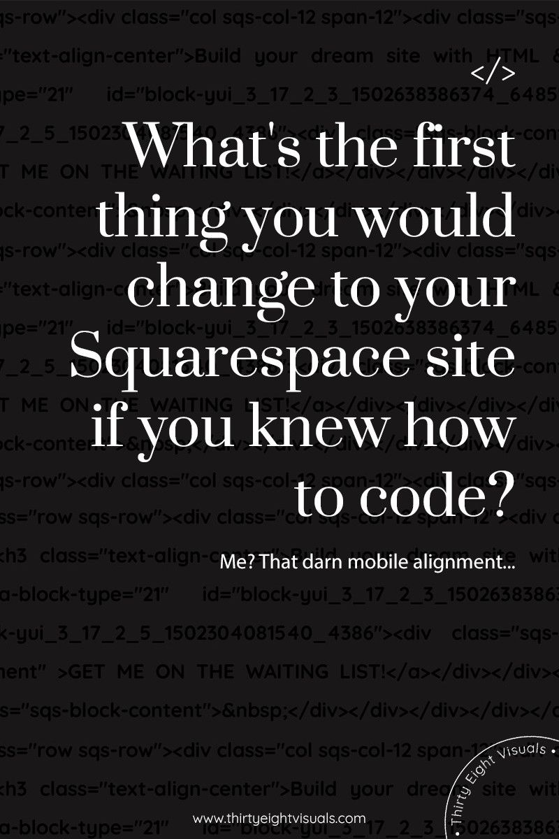 Stand Out With Your Squarespace Site And Ditch The Template Y Look
