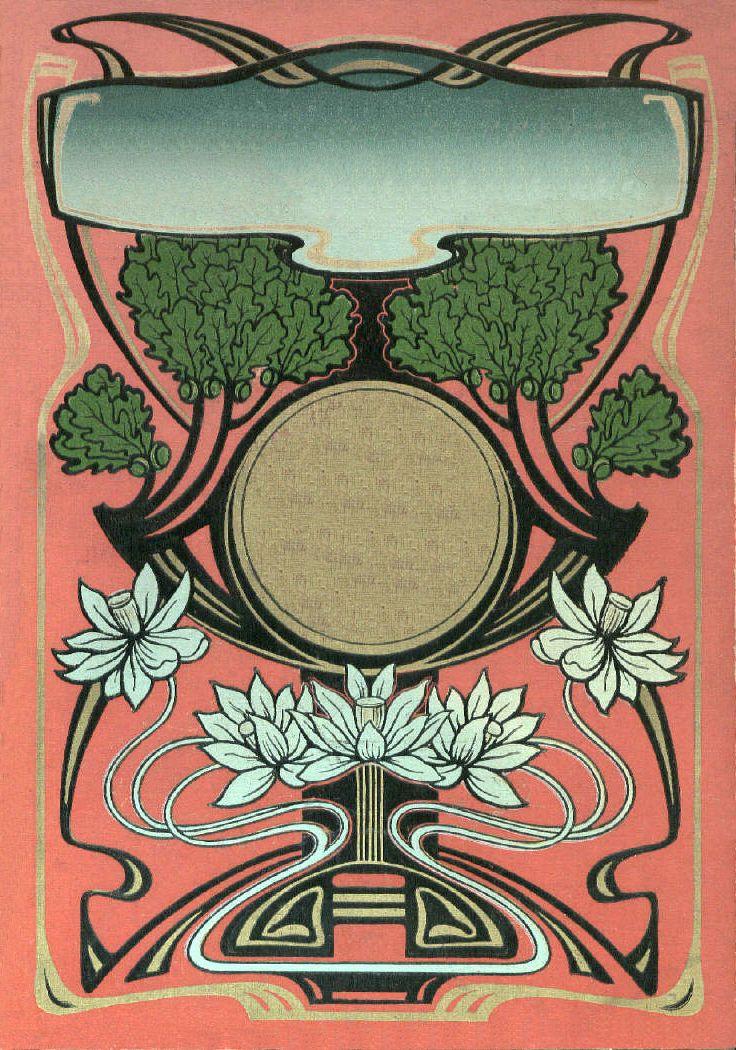 Art Nouveau book cover design \ JV