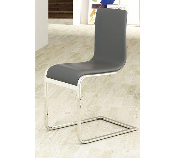 Conjunto de 6 sillas de comedor tapizadas en piel textil a un ...