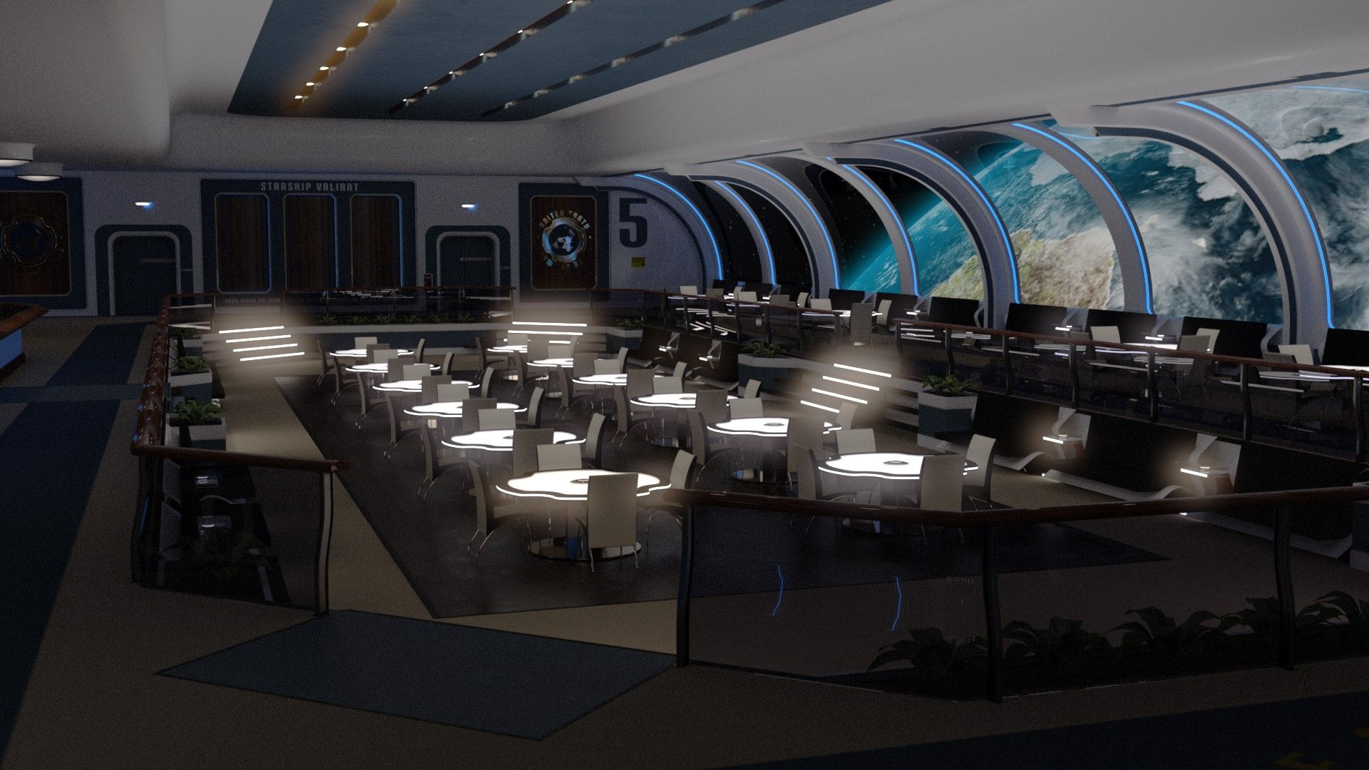 Collective3d Movie Sets Starship Lounge 3d Models And 3d