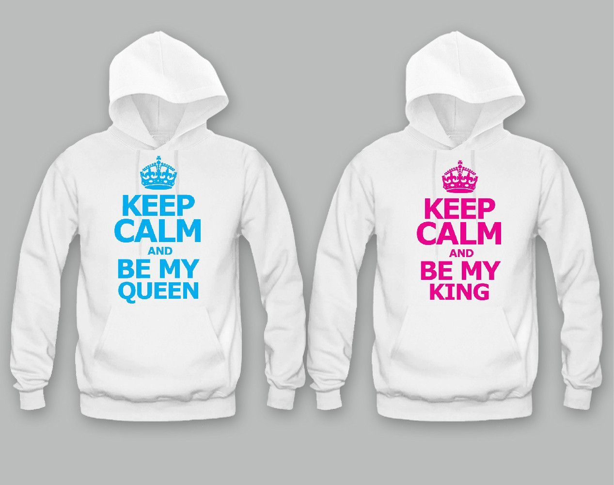d9492408bc Keep calm She's My Queen - Keep Calm He's My King Unisex Couple Matching  Hoodies