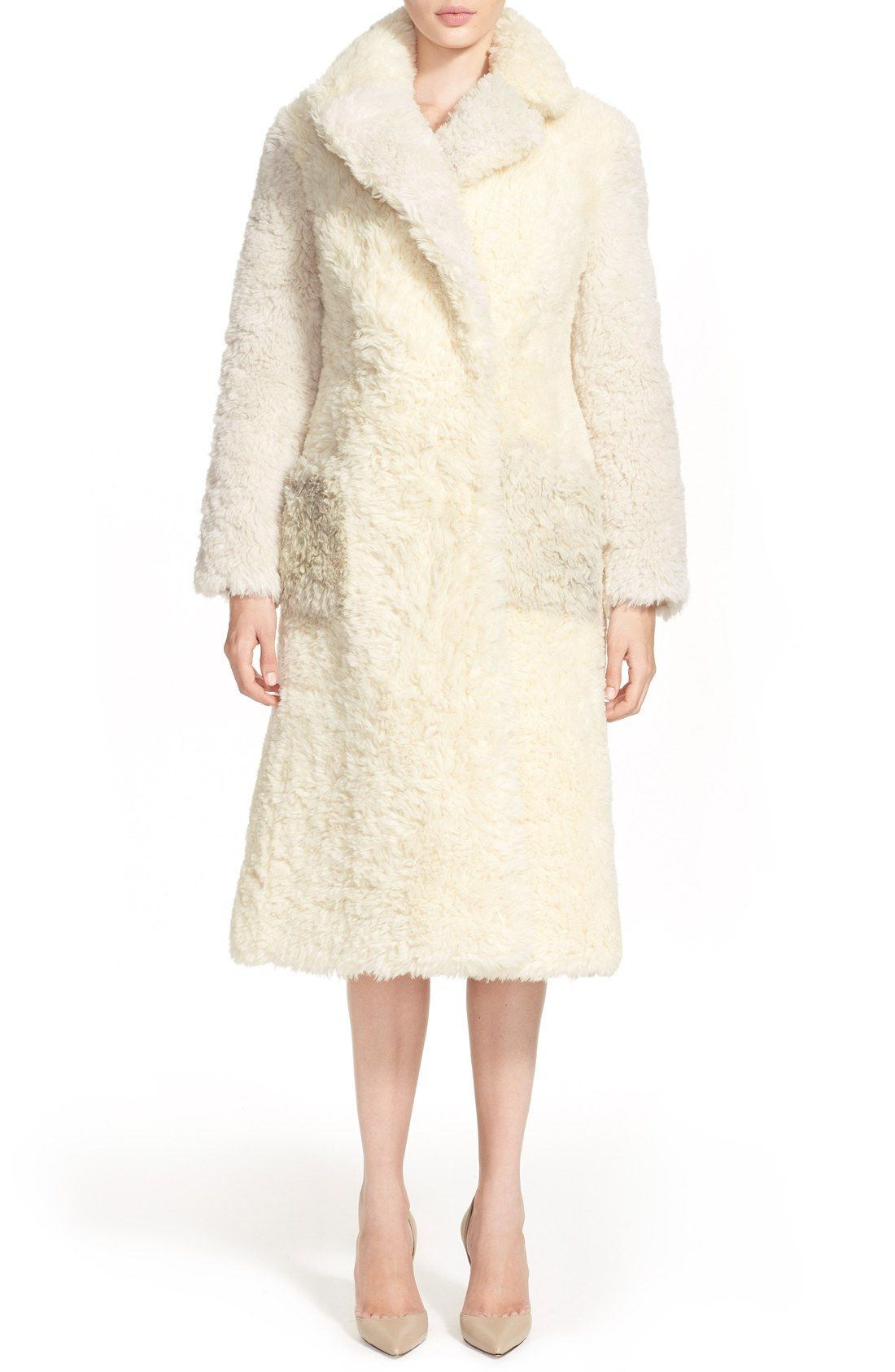 Vika Gazinskya Colorblock Alpaca & Mohair Coat