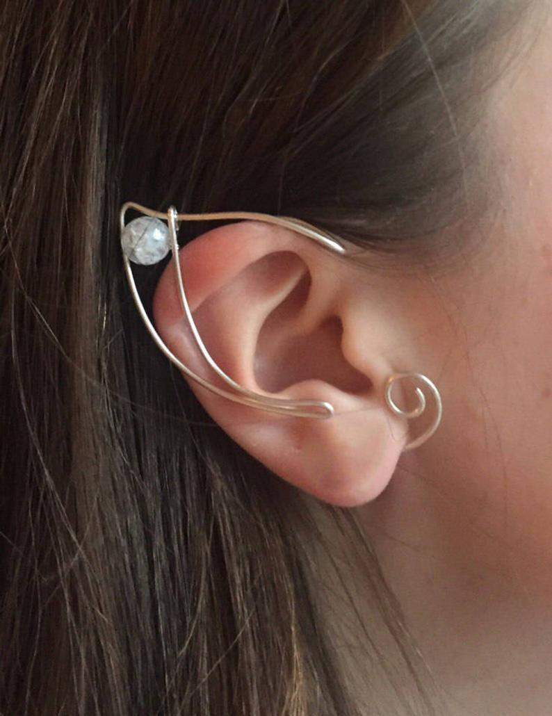 Elf Ears A Pair Elven Ear Ear Cuff Elvish Earring Elf Etsy In 2021 Ear Jewelry Elf Ear Cuff Ear Cuff