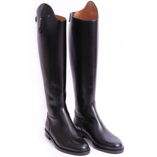 Gucci Black Leather Riding Boots | Shoes and bags | Pinterest ...