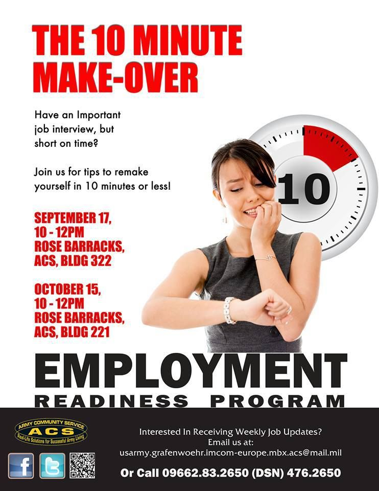 Employment readiness program, Graf/Vilseck - The 10 minute make-over (before the job interview)