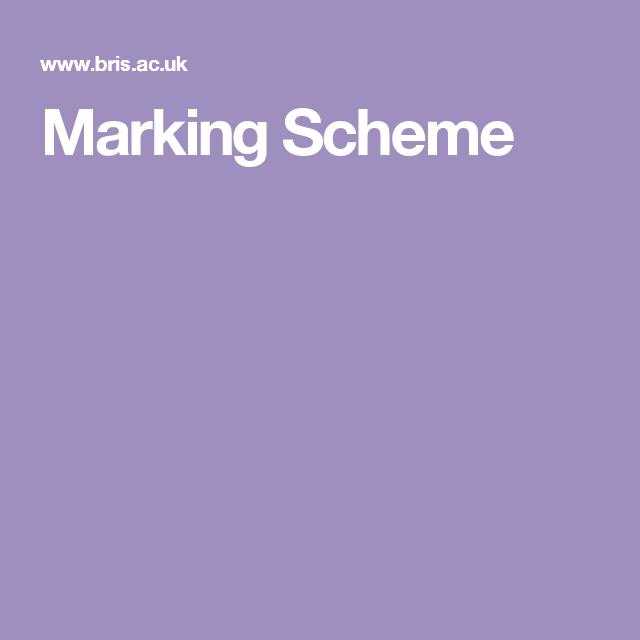 Dissertation marking scheme