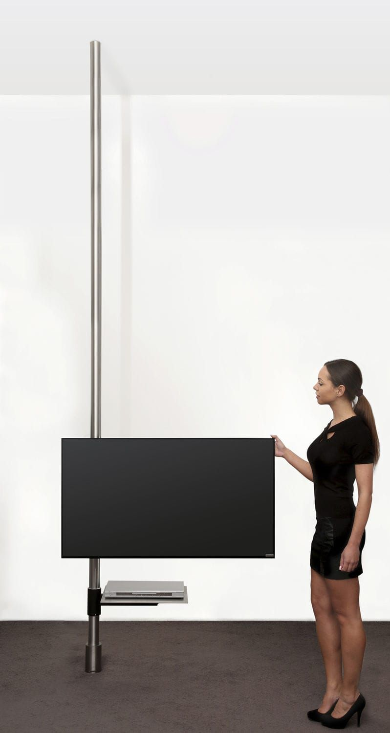 contemporary tv ceiling mount with holder for dvd player floor to ceiling swivel. Black Bedroom Furniture Sets. Home Design Ideas