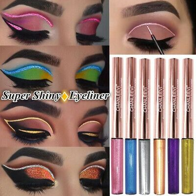Tools Longlasting Glitter Eyeliner Liquid Pencil Pigment Eye Makeup Eyeshadow #glittereyeliner