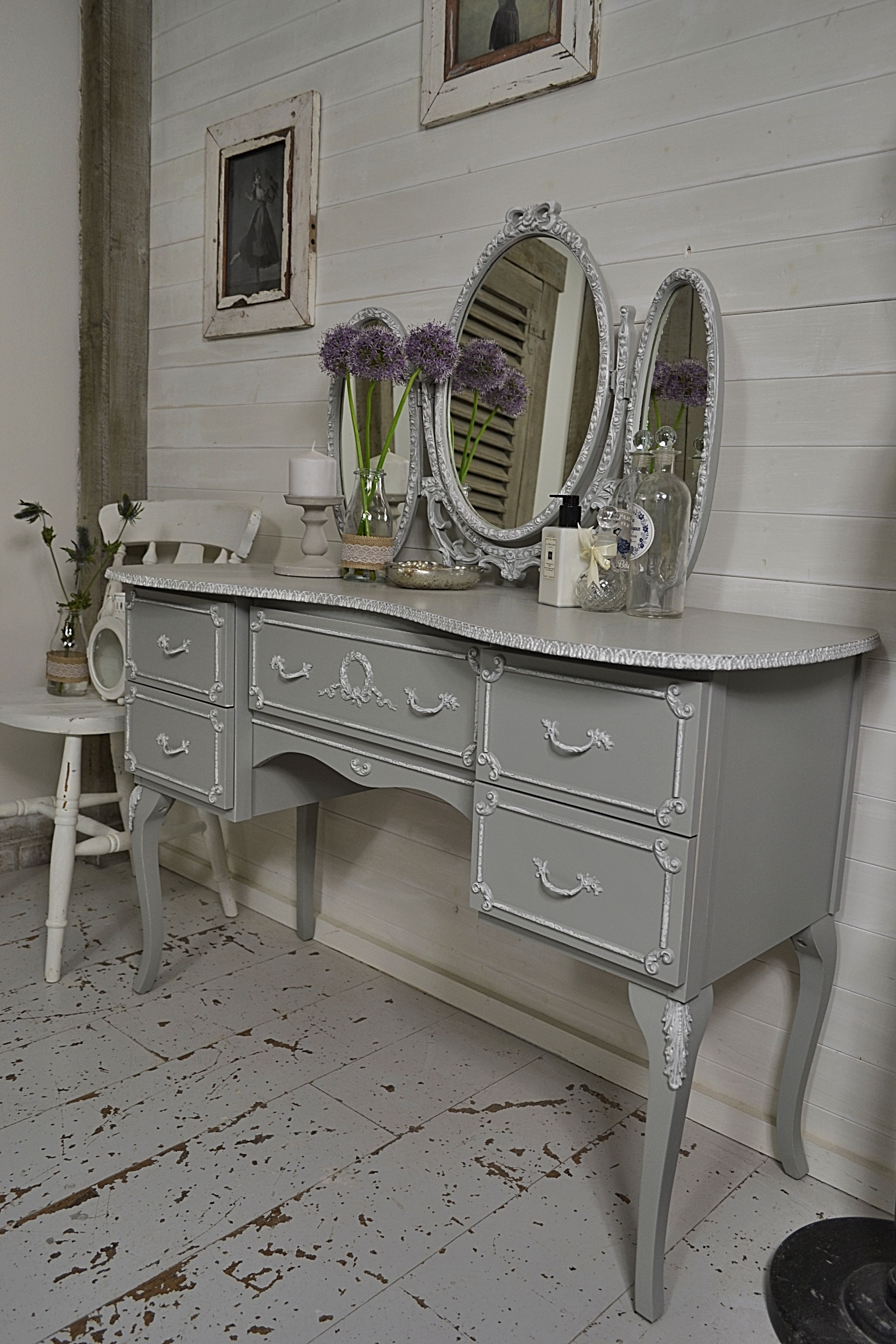 Get Ready In Style With This French Louis Dressing Table With Freestanding  Mirror. Weu0027