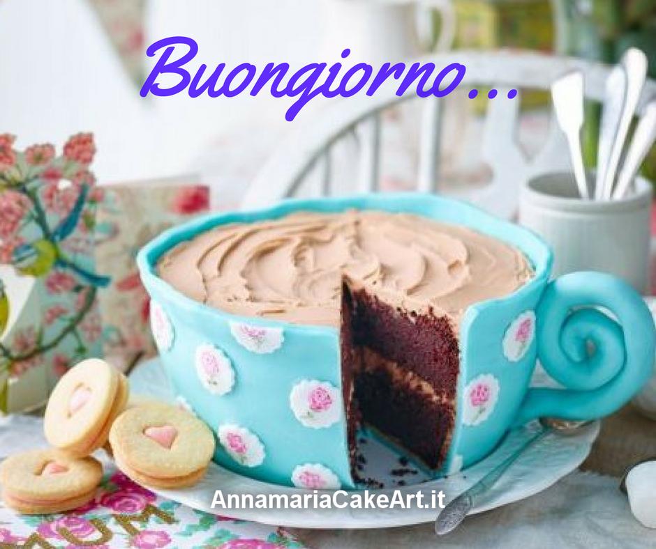 E' sempre un #buongiorno ! #CakeDesign #cakes #cakedecorating #cakemania  #cakeart #modelling #caketopper #AnnamariaCakeArt #sugarart