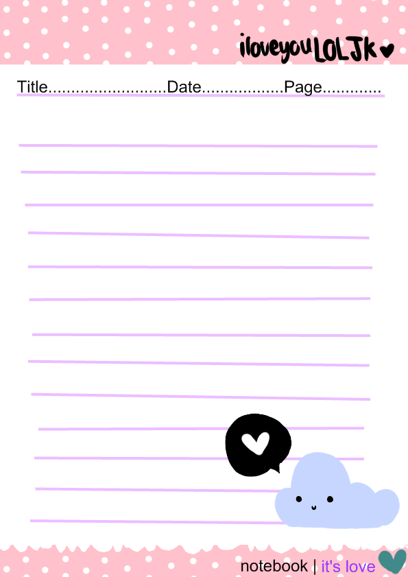 Letter Paper  Notebook By Iloveyouloljk On Deviantart  Aa