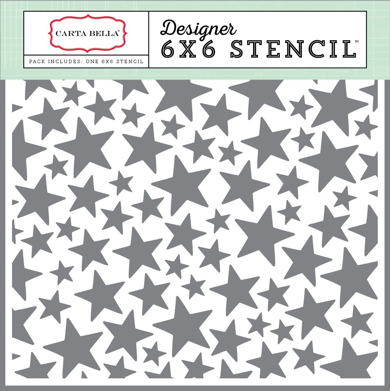 ECHO PARK Paper Carta Bella Papier Company Sterne Schablone, 6 x 6 ...
