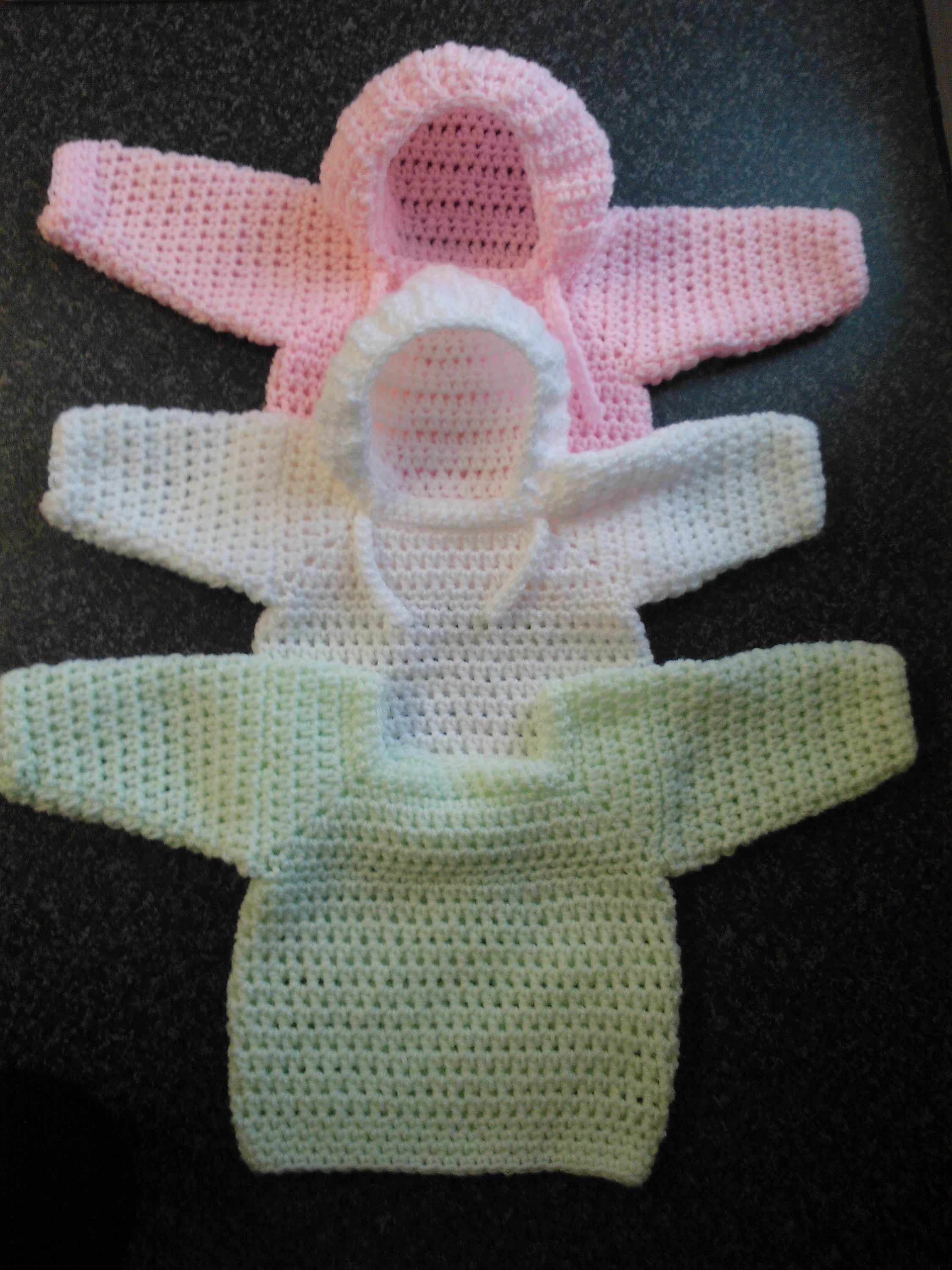 How to crochet my easy baby jumper/sweater/pull over/hoodie tutorial ...
