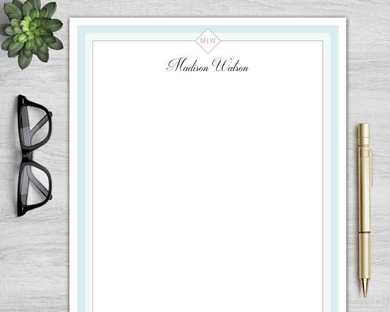Letterhead Template For Word Personalized Letterhead  Klamp Design