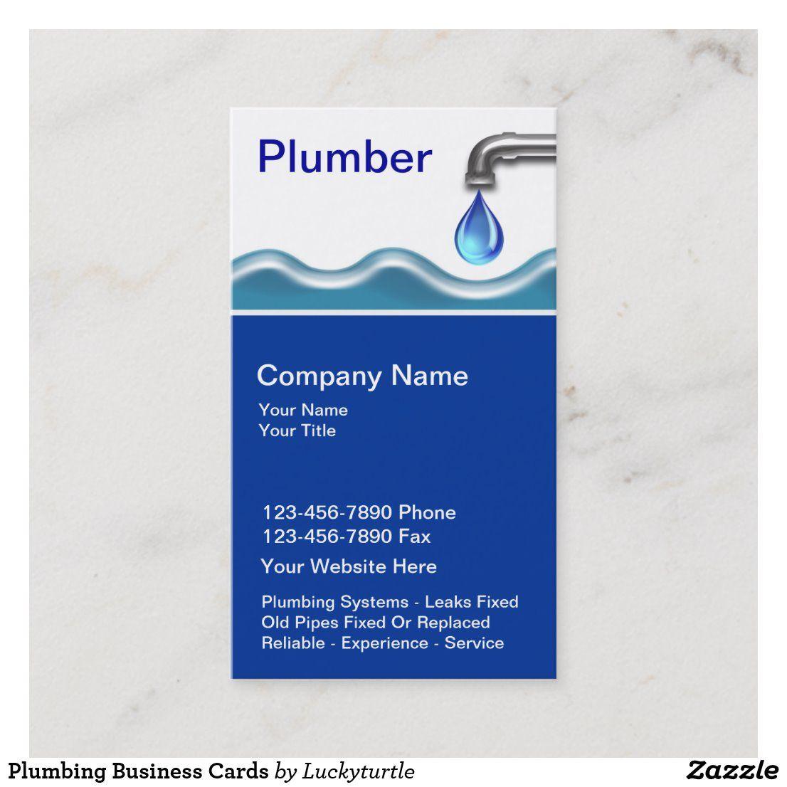 Plumbing Business Cards Zazzle Com Plumbing Plumbers Gift Business Cards