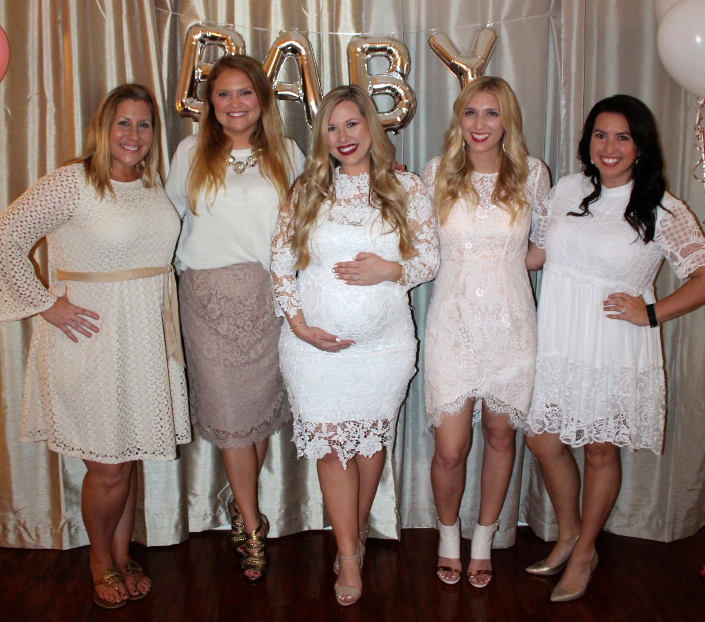 White Baby Shower All Guests Wear White Baby Shower Outfit Winter Wonderland Baby Shower Baby Shower Outfit For Guest [ 1235 x 1400 Pixel ]