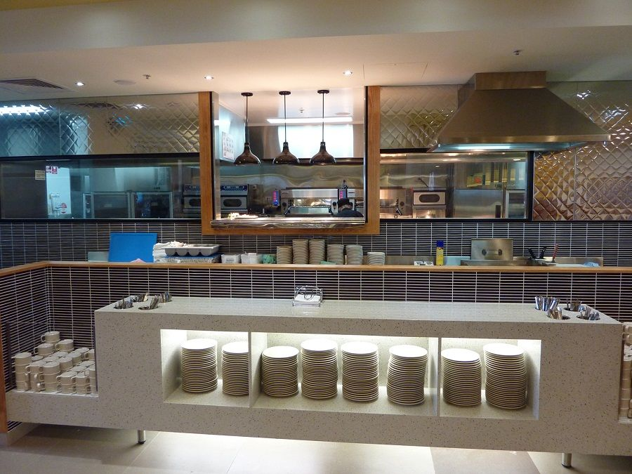 Restaurant open kitchen design google search