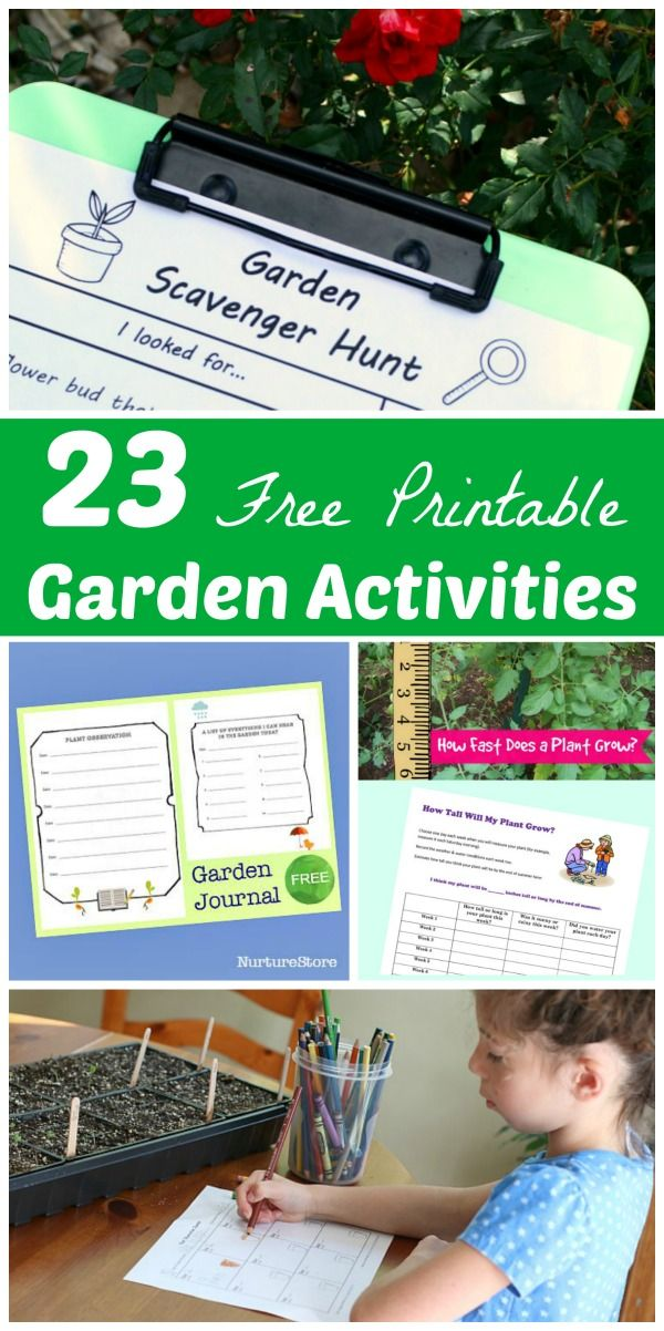photograph about Free Printable Garden Journal identified as 23 No cost Printable Gardening Routines Gardening with Young children