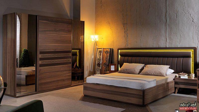 غرف نوم باللون البني بالصور كتالوج 2018 Bedrooms Are Brown قصر الديكور Bedroom Furniture Design Modern Bedroom Furniture Sets Luxury Bedroom Furniture