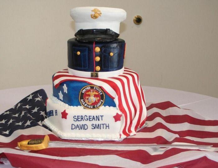 Marine cake Cakes Pinterest Marine cake Cake and Military cake