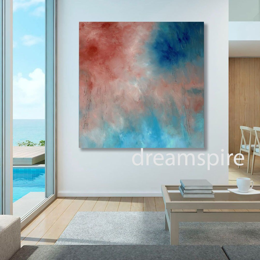 Large Abstract Painting Home Wall Decor Beach House Decorating Ideas 36 X 36 Galle Original Art Painting Large Abstract Painting Contemporary Landscapes Art