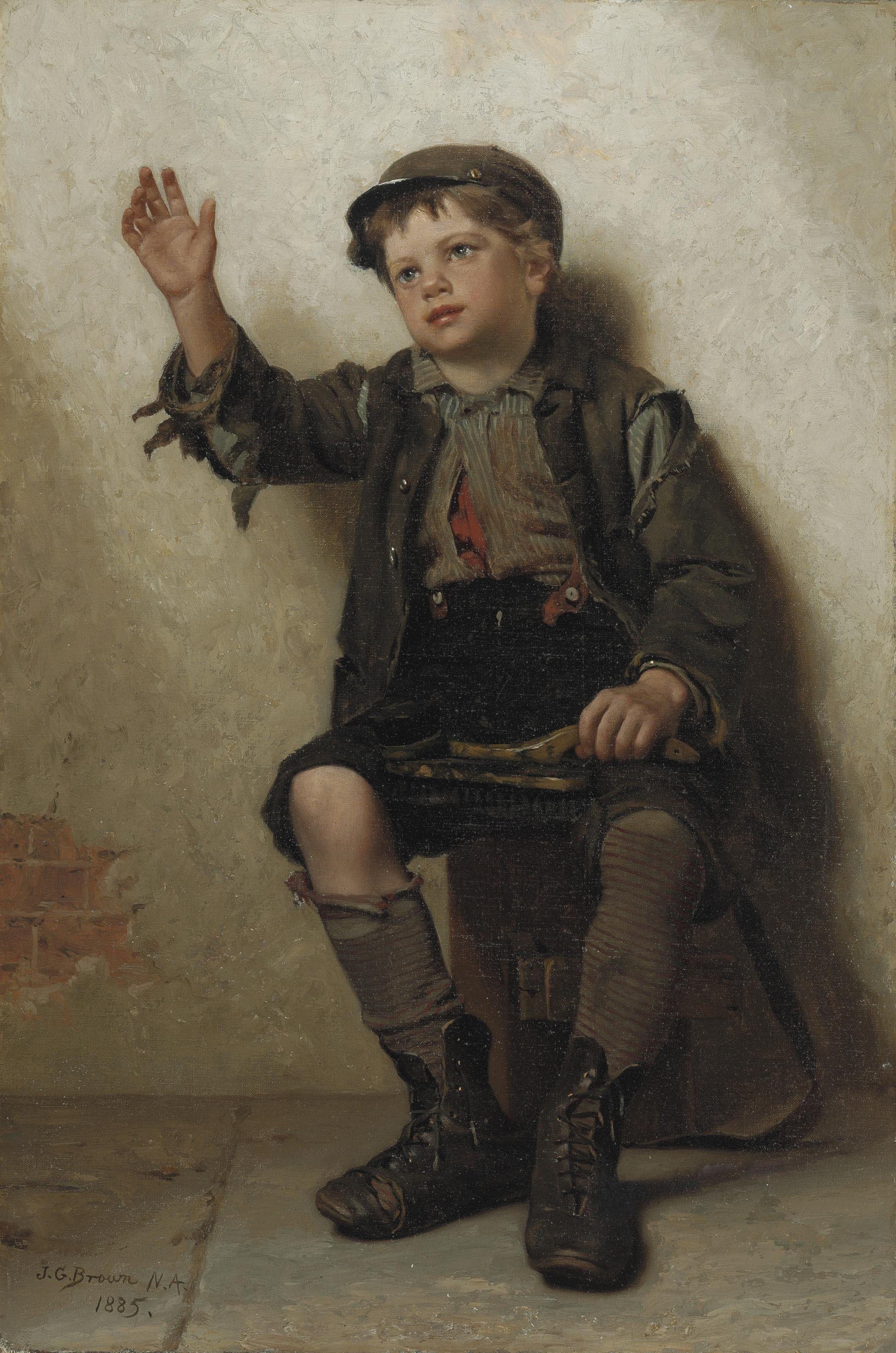 """Shoeshine Boy"" (1885), by Englishborn American artist"