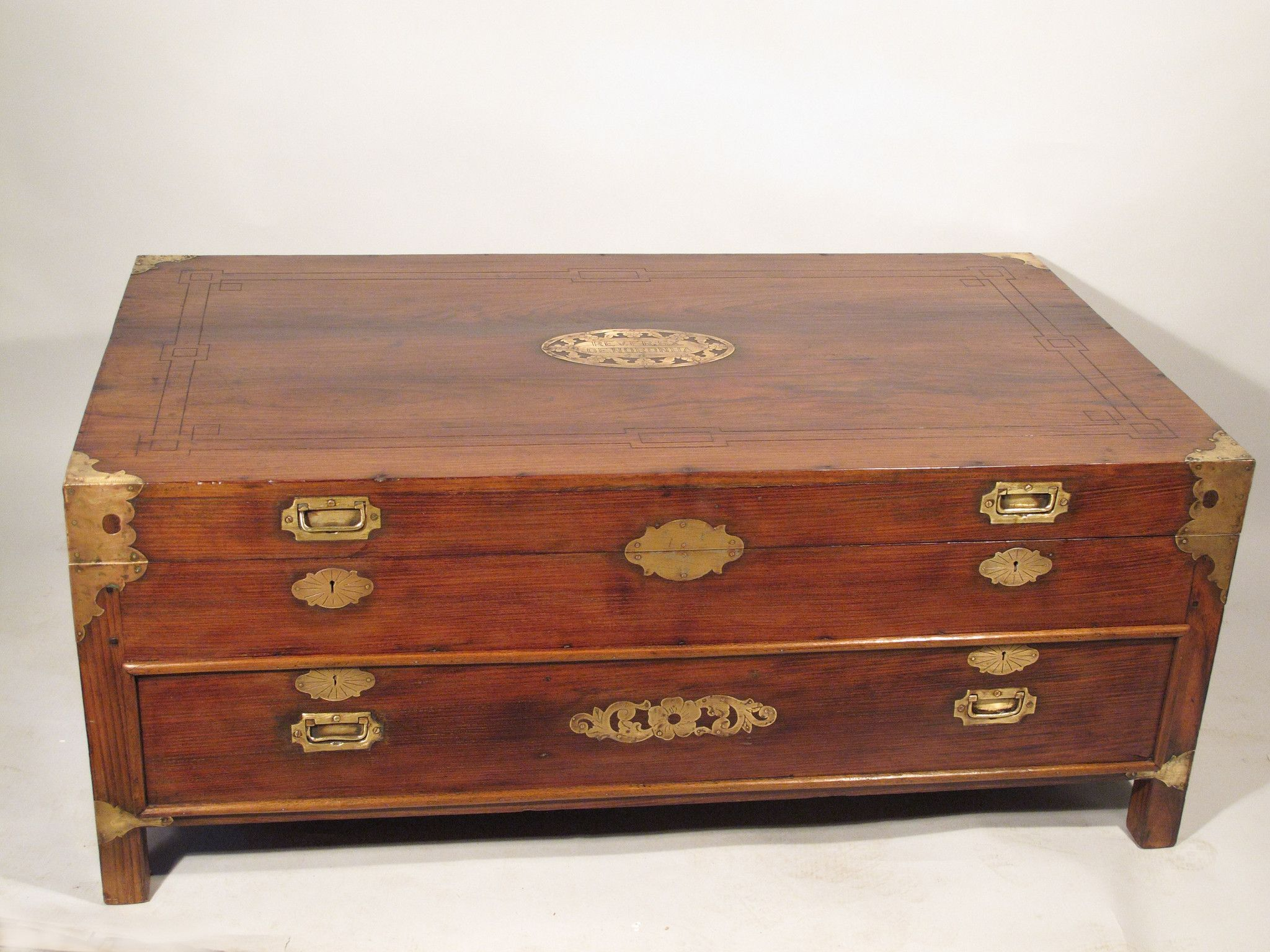 rosewood coffee table chest with drawers late 19thc drawers