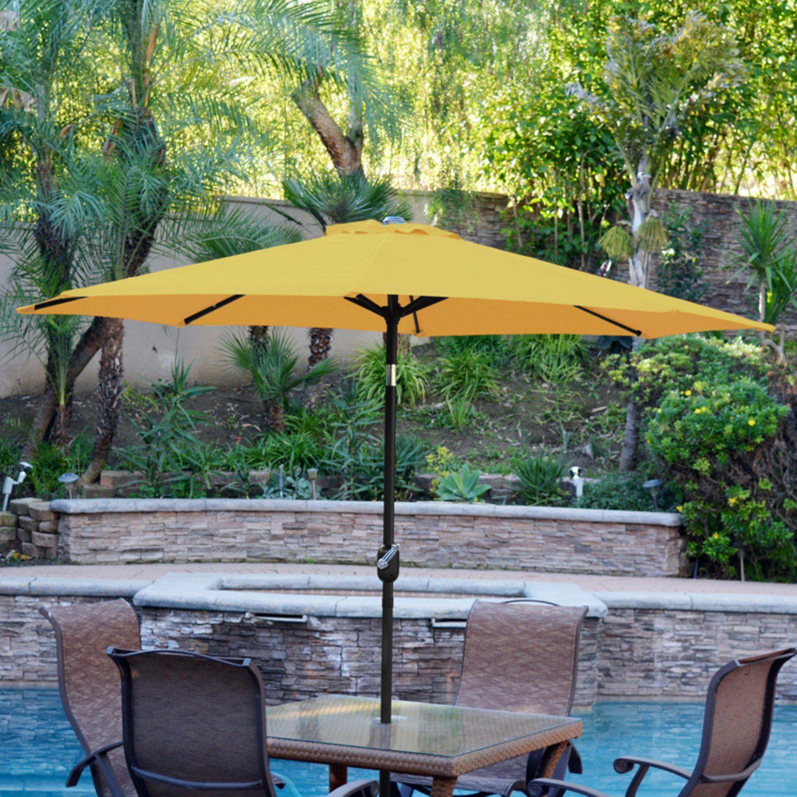 b0365d0894f7 Jeco 9 ft. Aluminum Patio Market Umbrella with Tilt and Crank ...