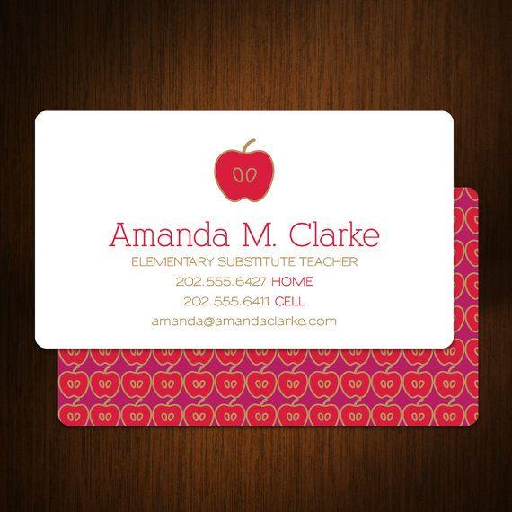 Teacher Business Card / Calling Card / Mommy Card / Contact Card