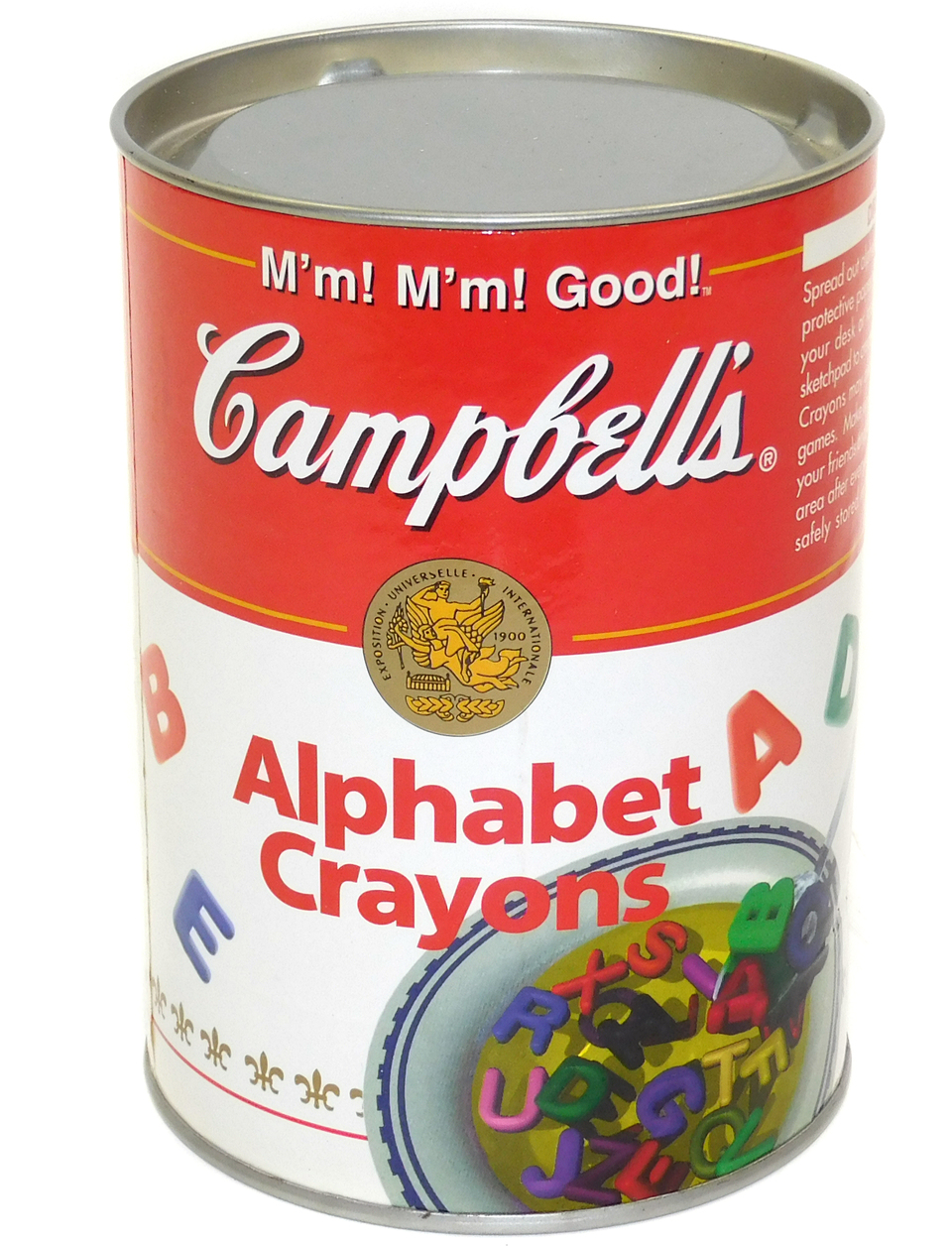 Vintage Nos 1998 Campbell S Soup Can Alphabet Crayons Tin With Contents In Can Campbell S Soup Cans Campbell Soup Alphabet Crayons