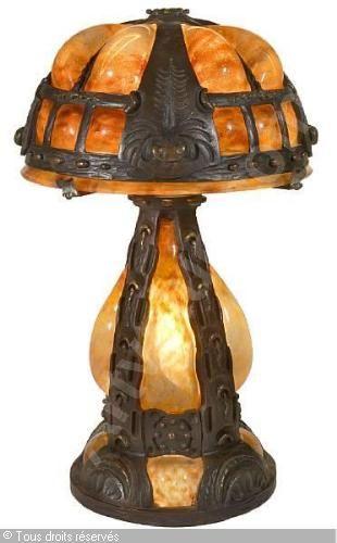 Daum Nancy Ca 1925 Lamp Art Glass Lamp Antique Lamps