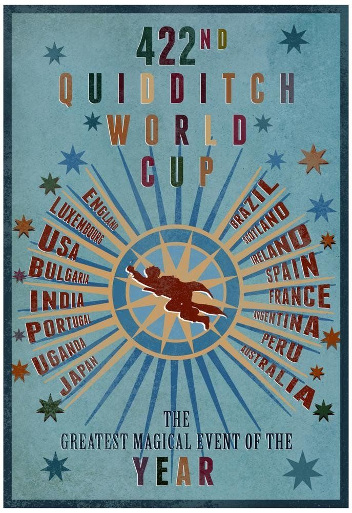 Amazon Com 422nd Quidditch World Cup Poster 13 X 19in With Poster Hanger Prints Posters Amp Prints Harry Potter Poster Quidditch World Cup