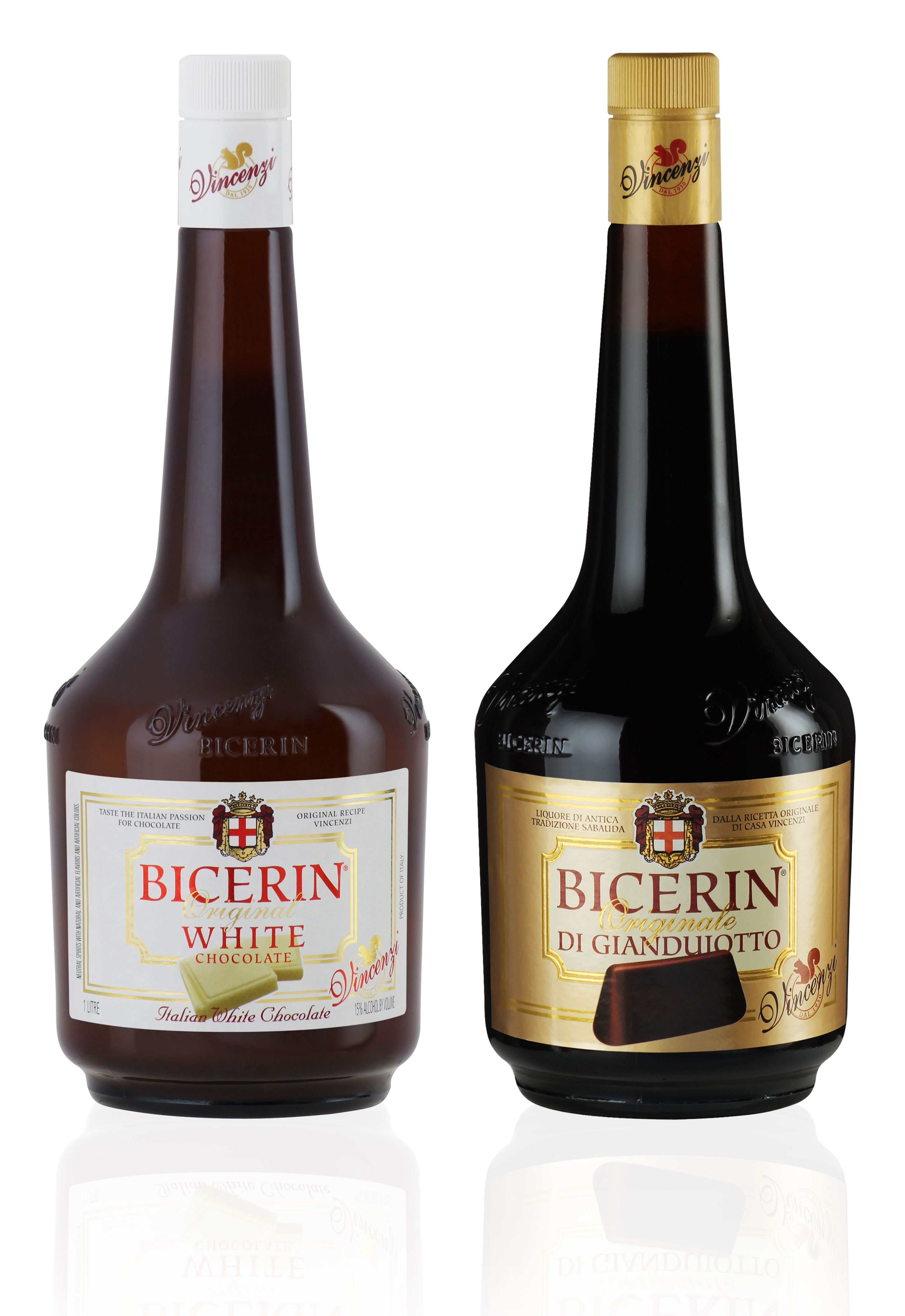 Bottles of Bicerin Di Giandujuiotto, made with the rich, dark ...