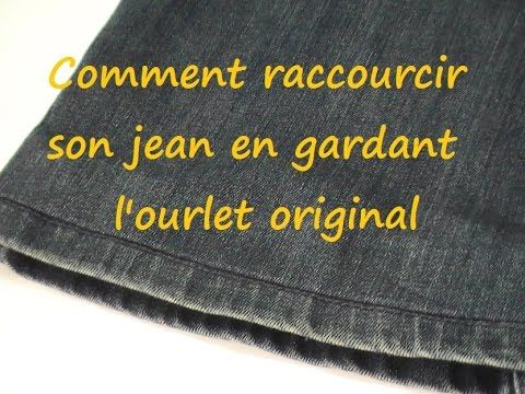 astuce couture comment raccourcir son jean en gardant l 39 ourlet original youtube couture. Black Bedroom Furniture Sets. Home Design Ideas