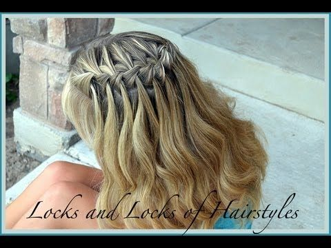 How To Waterfall Braid Hairstyle Tutorial Best Waterfalll Braid