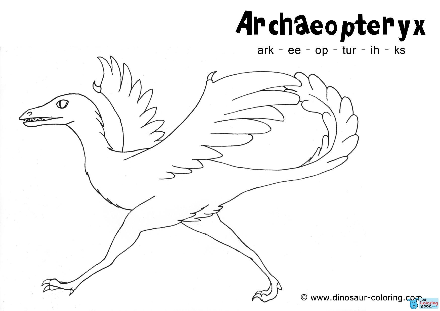 Archaeopteryx Coloring For Free Printable Archaeopteryx Jurassic