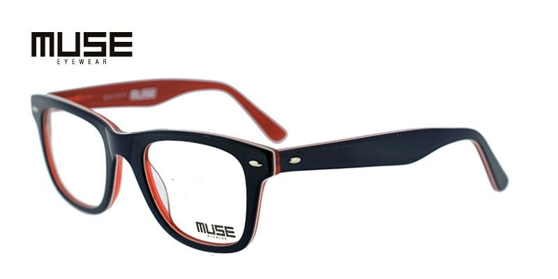 6ce60c9e24c Muse Mac Blue w Clear Red Prescription Eyeglasses From  89
