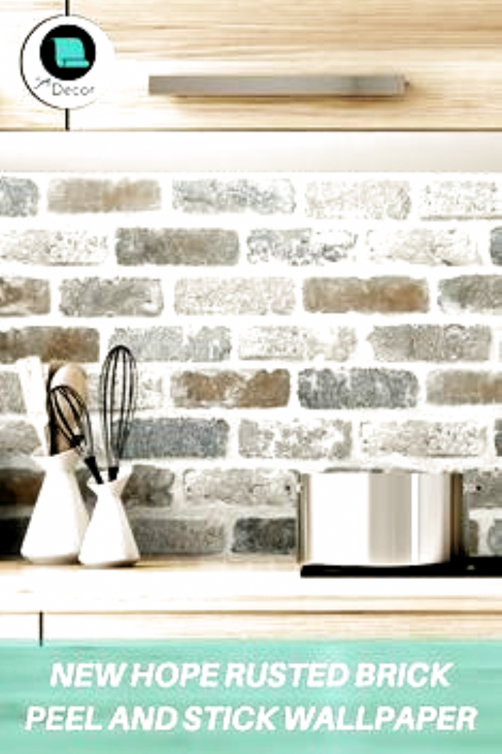 Peel And Stick Backsplash Ideas Peel And Stick Wallpaper Kitchen Stick Wallpaper Diy Backsp In 2020 Diy Kitchen Backsplash Kitchen Wallpaper Peel N Stick Backsplash
