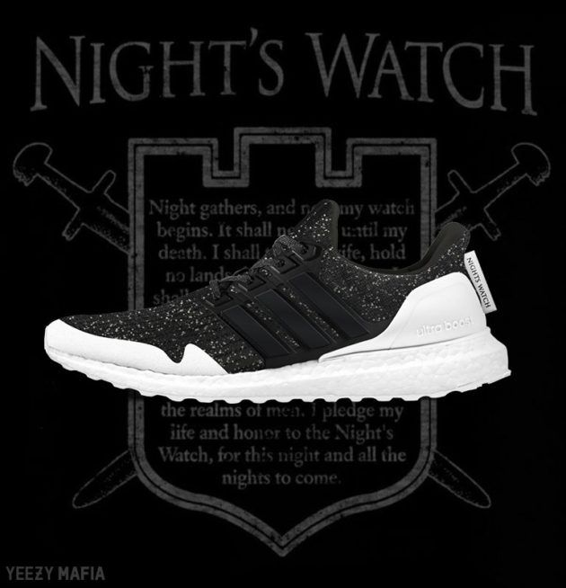 sale retailer a2f8b de63f The Game of Thrones x adidas Collection will include the adidas Ultra Boost  Nights Watch release that comes in a Black and White colorway releasing in