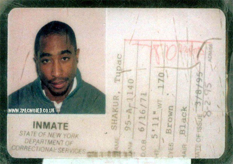 Tupac's Inmate ID Card (1995) Tupac, Tupac quotes