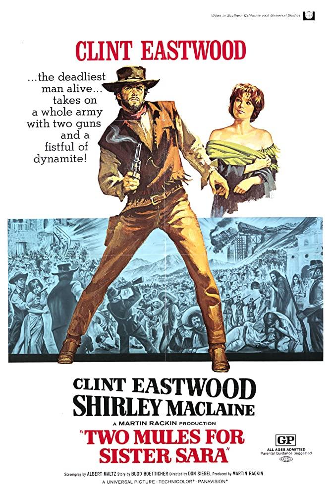 Dos Mulas Y Una Mujer 1970 Do N Siegel Cine Online Cine Carteleras De Cine