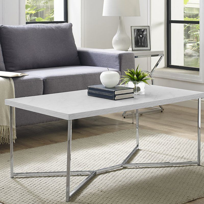 Devito Cross Legs Coffee Table with Storage   Coffee table ...