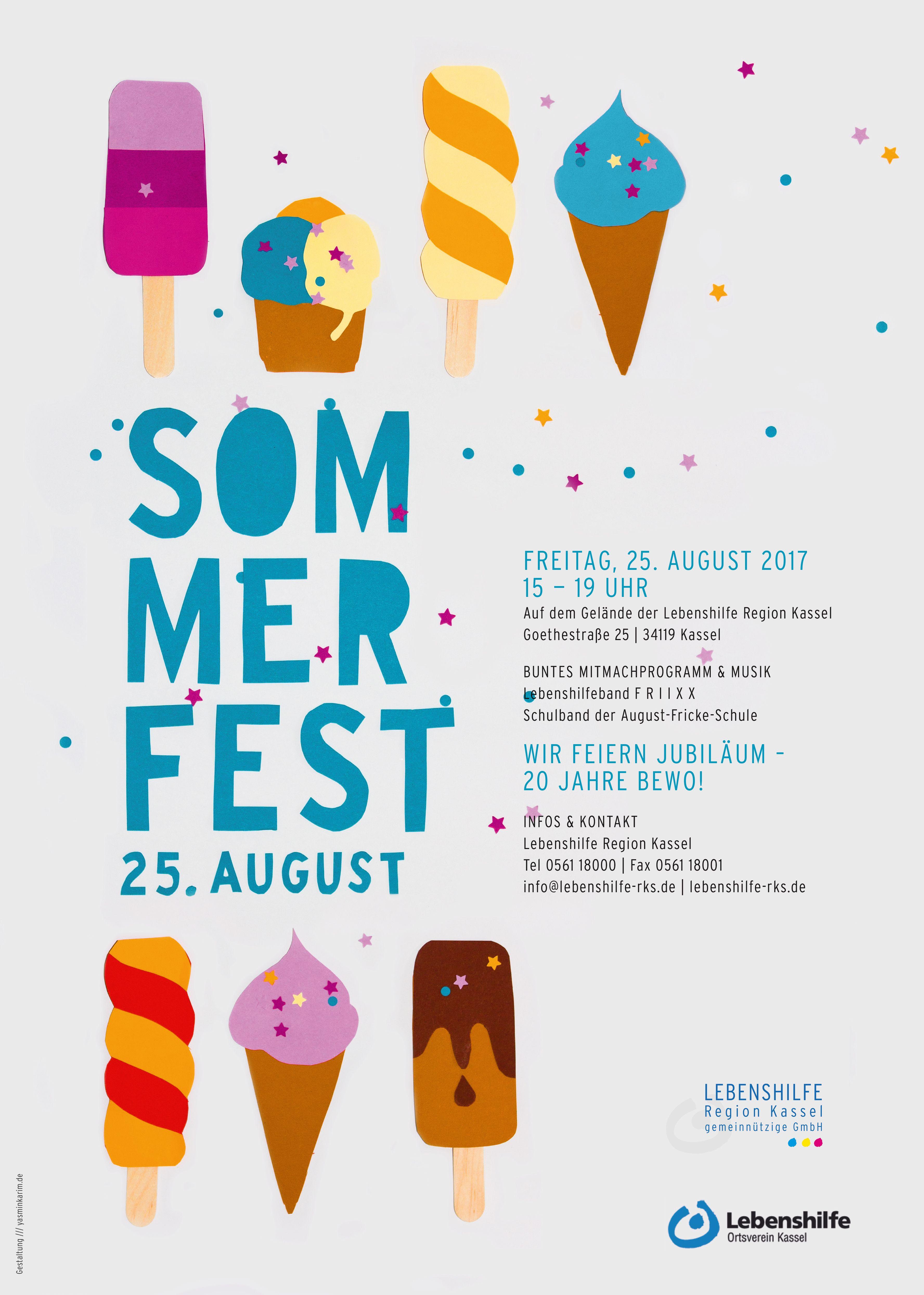 Photo of Lebenshilfe Sommerfest Plakat 2017