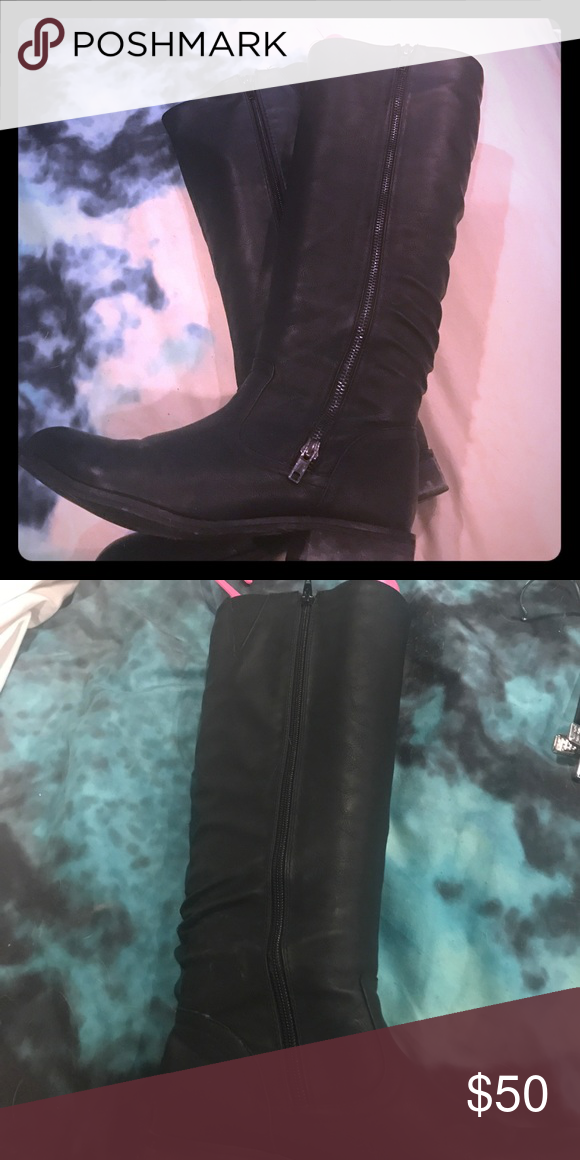 Black Leather Boots Black Leather Boots Aldo Shoes Heeled Boots