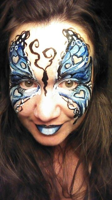 Gothic butterfly face paint