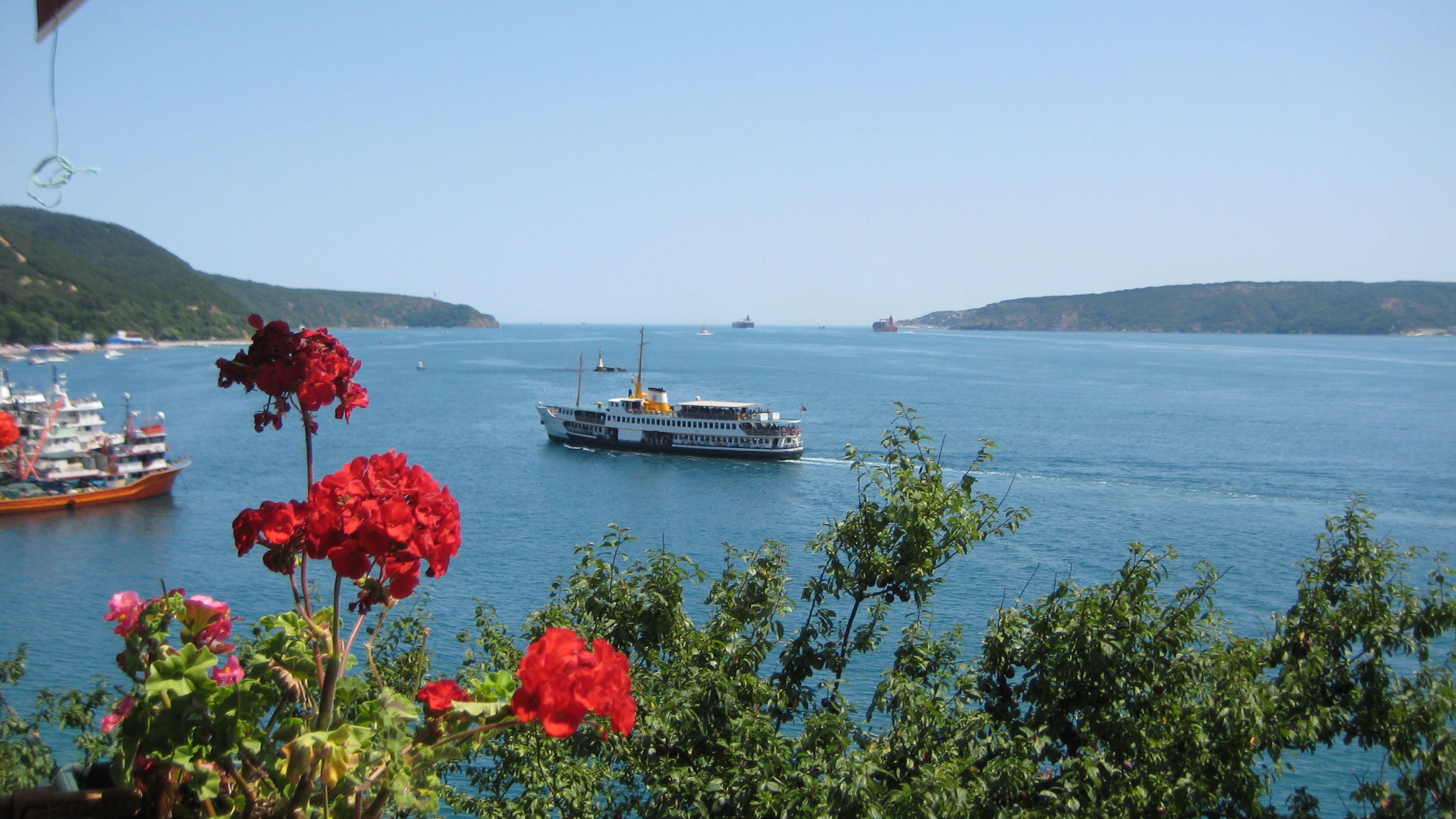 From Rumeli Kavak view of the Bosphorus and Black Sea