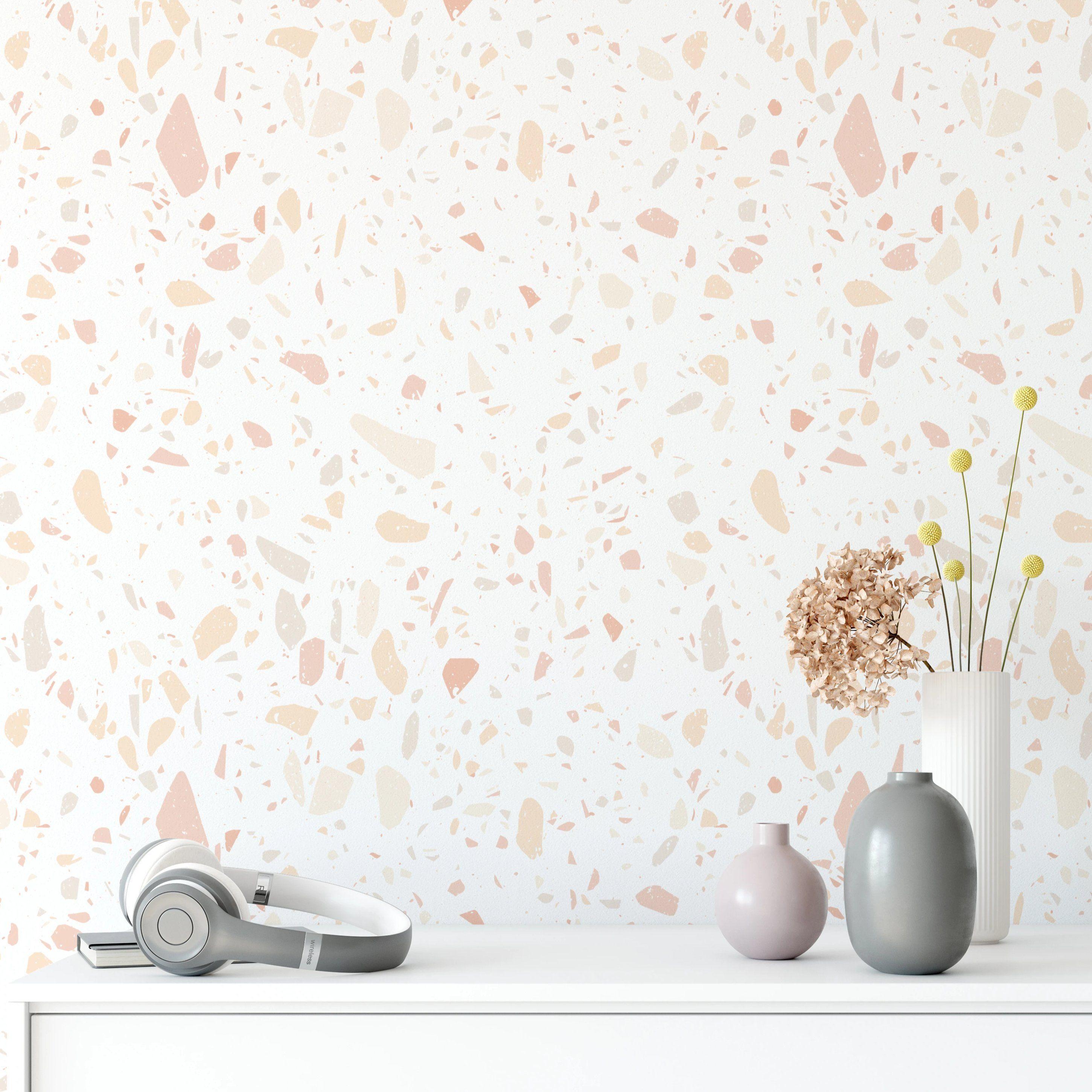 Terrazzo Wallpaper Peel And Stick Wallpaper Removable And Self Adhesive Premium Home Decor Timberleawallpaper Peel And Stick Wallpaper Terrazzo Wallpaper